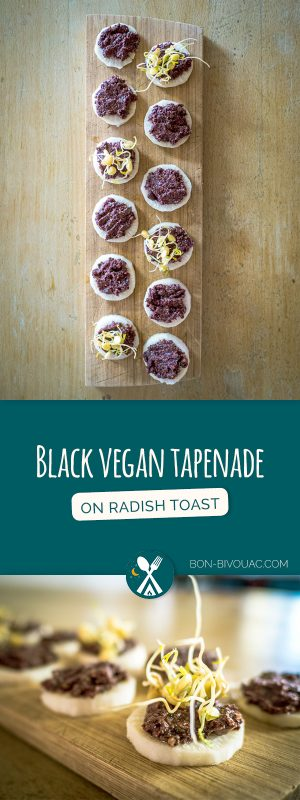Vegan black tapenade without anchovies